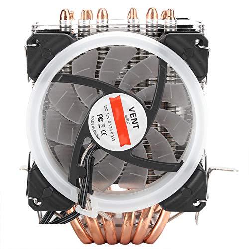 Yctze Ventilador de enfriamiento silencioso 3RGB de 4 Pines con Seis Tubos de latón de 6 mm de Espesor Disipación de Calor rápida para disipación de Calor
