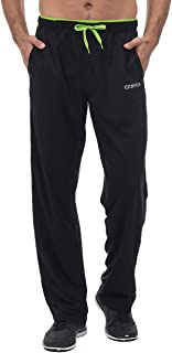 Men's Sweatpants with Pockets Open Bottom Workout Pants, for Athletic, Jogging, Training, Casual
