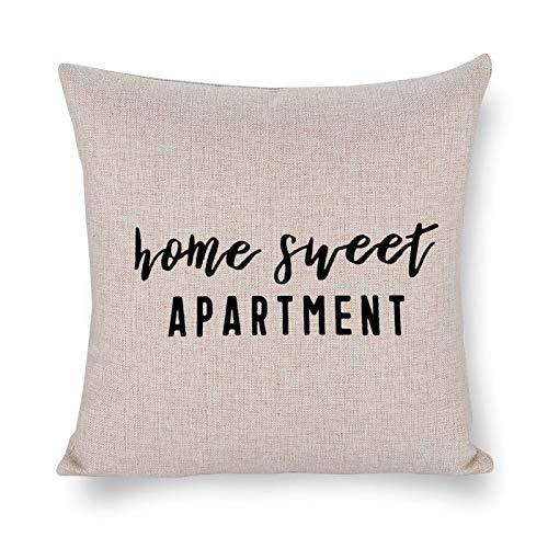 Blafitance Home4 - Federa decorativa per cuscino, in lino, con citazione motivazionale, decorazione rustica per la casa, 35 x 35 cm