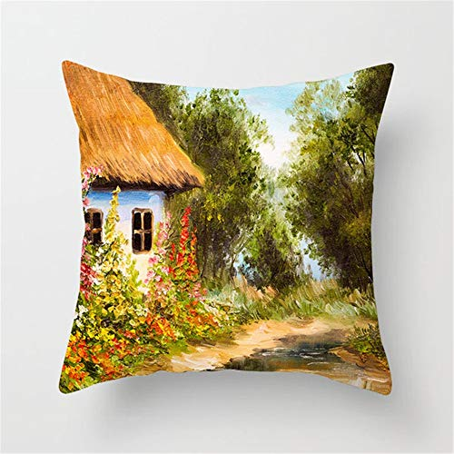 Cushion Covers Decorative Throw Pillow Cover House Square Velvet Soft Throw Pillow Case Sofa Car Pillowcase for Living Room Baby Room Couch Bedroom Pillowcases Decor Pillowcase+core,45x45cm T7749