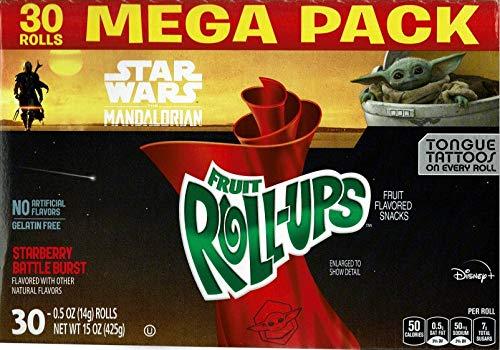 2020 DISNEY Star Wars The Mandalorian Fruit RollUps  1 box