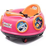sopbost Kids Toddler Ride On Bumper Car with Parental Control Electric Ride On Toys Car 6V Battery Powered Ride On Car for Kids to Drive, Pink