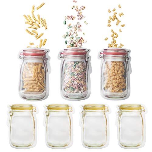 Vielseitige Lebensmittel Beutel Vielseitige Beutel Wiederverwendbare Gefrier Beutel Küche Einmachglas Tasche Gemüse Beutel Food Storage Beutel Food Pe Taschen Für Gemüse Milch Snacks Fleisch(7 Pcs)