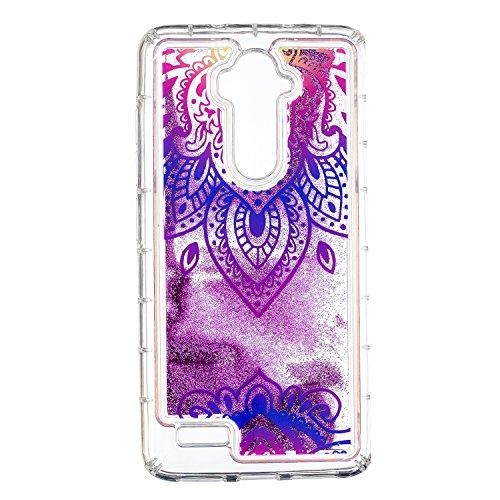 COZY HUT ZTE Z986 Glitzer Hülle, 3D Treibsand Transparent Back Cover Glitzer Handyhülle Skin Schale Beschützer Haut Case für ZTE Z986 - Blaues & weißes Porzellan