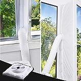 TOPOWN 560CM Fensterabdichtung für mobile Klimageräte, Klimaanlagen, Wäschetrockner, Ablufttrockner | Hot Air Stop mit Reißverschluss zum Anbringen an Balkontüren | Alternative zur Fensterabdichtung …