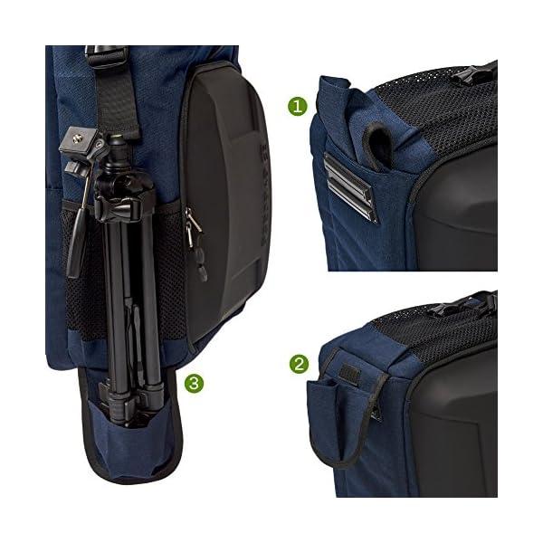 51SYl0WlN5L. SS600  - Evecase SHELL - Mochila para cámara y portátil de 15,6 pulgadas impemeable con funda para lluvia