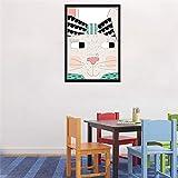 N / A Kawaii Conejo con Cara Divertida Lienzo Pintura diseño de Dibujos Animados geométrico Animal póster Imagen de la Pared sin Marco 21x30cm