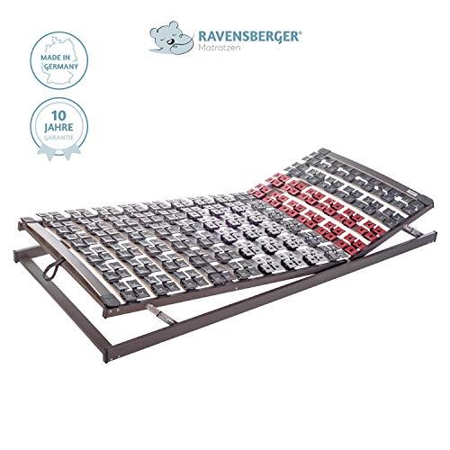 Ravensberger Matratzen Lattenrost Premium (Variflex) VARIABEL 5-Zonen Buche Systemtellerrahmen | Verstellbar | 4-Fach Segmentteller-Federelementen | Made IN Germany - 10 Jahre GARANTIE | 90 x 200 cm