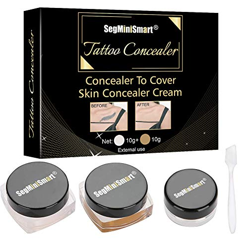 Tattoo Concealer, Concealer To Cover Tattoo/Scar/Birthmarks/Vitiligo, Waterproof Concealer, Professional Waterproof Tattoos Cover Up Makeup Concealer Set (Tattoo Concealer)