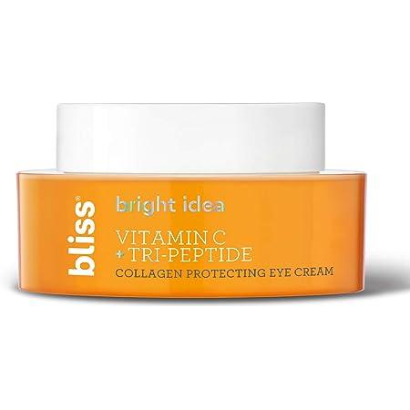 Bliss Bright Idea Vitamin C & Tri-Peptide Collagen-Protecting & Brightening Eye Cream | Clean | Vegan | 0.5 oz