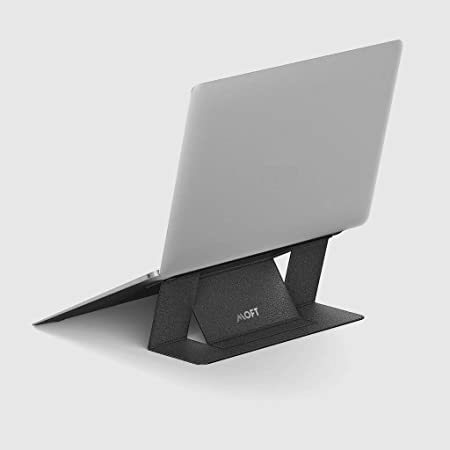 MOFT ノートパソコン スタンド 軽量 MacBook デスク 放熱穴付き 薄型 (最大15.6インチ, Gray)