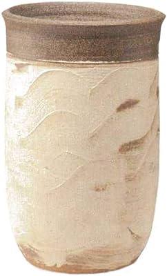ヤマ庄陶器 傘立て クリーム色/こげ茶色など 30xd726xd746cm 信楽焼 土ごよみ 土なごみ傘立