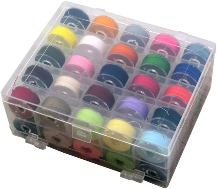 HEALLILY 36pcs 36 Colors Multifunction Award-winning store and Thread Sewing Bobbins Direct store