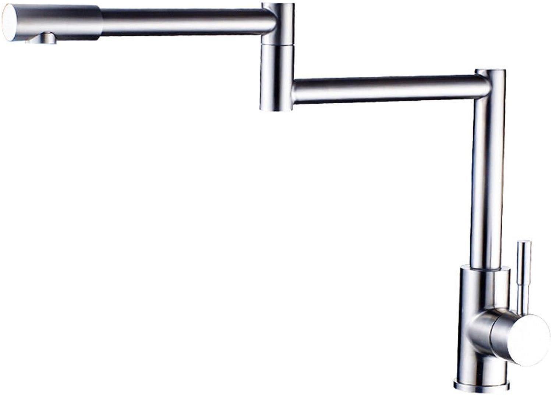 AQMMi Wasserhahn Waschtisch Waschbecken Armatur Edelstahl 2 Bohrungen Heies Und Kaltes Wasser Badarmatur Waschbeckenarmatur Waschbecken