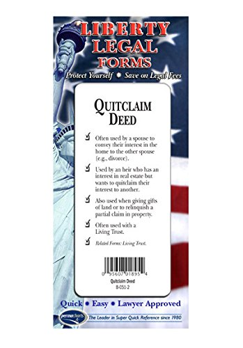 Quitclaim Deed Form - USA - Do-it-Yourself Legal Forms by Permacharts