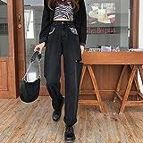 Fashion Zebra Patched Jeans Hole High Waist Pants Black Pockets Pop Denim Trousers Women Streetwear Jeans XL Black
