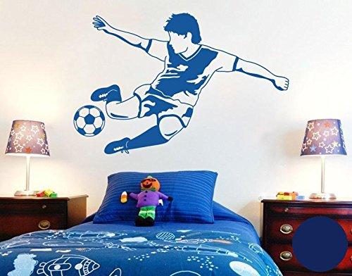 Klebefieber Wandtattoo Fussball Star B x H: 80cm x 53cm Farbe: königsblau