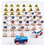 Madera Señal De Tráfico, Muestras De Madera De La Calle Set De Juego, Madera De Carreteras Firma Conjunto De Accesorios, Juguete Educativo para Los Niños