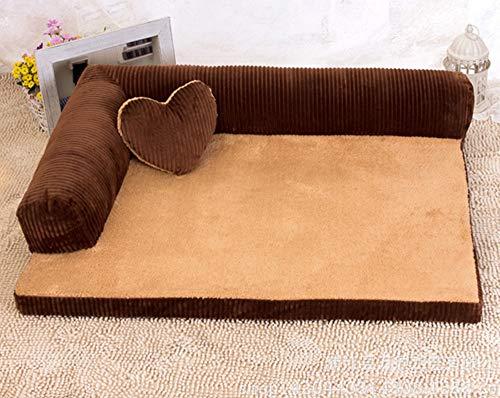 IFEVER Orthopädisches Haustierbett für mittelgroße Hunde, L-förmig, Recamiere-Lounge-Sofa, abnehmbar und waschbar, Größe M