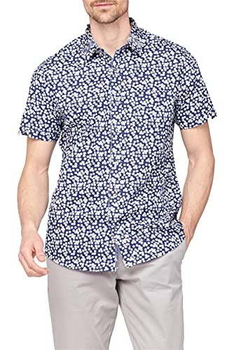 Photo of Jeff Banks Outlet Short Sleeve Floral Print Shirt XL Navy