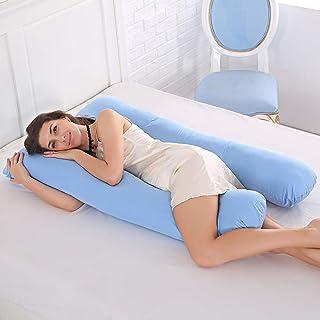 Almohada de maternidad, almohada de apoyo para embarazadas, cuerpo 100 % algodón, almohada en forma de U, almohadas de maternidad, embarazo, dormir lateral