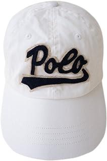 (ポロ ラルフローレン)POLO Ralph Lauren ロゴ入り ベースボール キャップ メンズ&レディース ポニーマーク [並行輸入品] ホワイト -