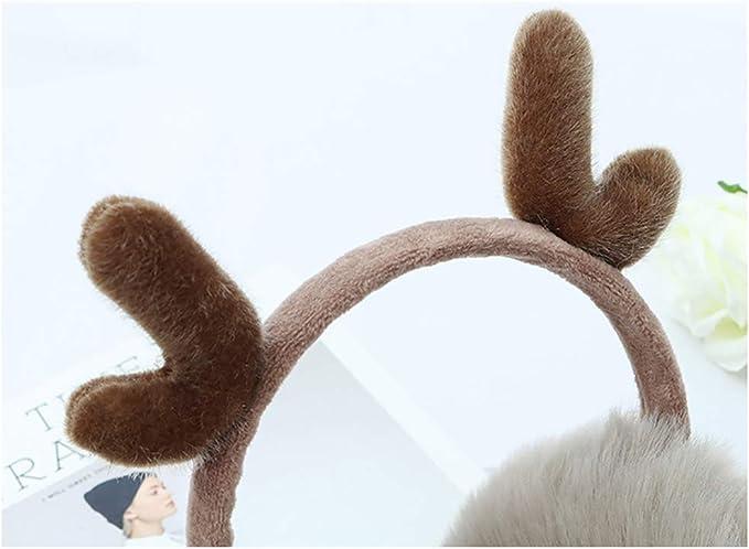 TrifyCore Warm Earmuffs 1PC Frauen-Winter-warme Ohrensch/ützer-Katze-Ohr Earwarmer Weiche faltbare Strick Earmuffs mit Pailletten f/ür M/ädchen Schwarz