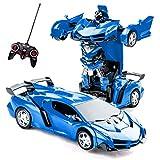 Trasformazione Giocattoli Telecomando Trasformare Auto 2 in 1 Telecomando Auto per Bambini Ragazzi Età 5-8 Deformazione Robot RC Auto per Bambini Ragazze