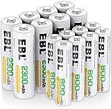 EBL 16pcs Kit AA et AAA Piles Rechargeables avec...