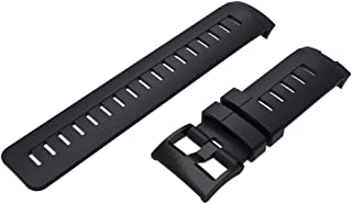 Silicone Watchband Wrist Strap for Suunto Ambit3 Vertical Traverse Alpha Spartan - Black by Bullker