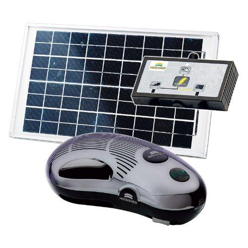 HEISSNER SP1500-00 Hybrid-Pumpen-Set 1500 L/h mit Trafo und Solarzelle