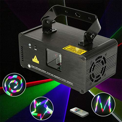 HCCX Remote 3D RGB 400mW DMX 512 Scanner Projector Stage Lighting Effect Party Xmas DJ Disco Show Lights Full Color Light
