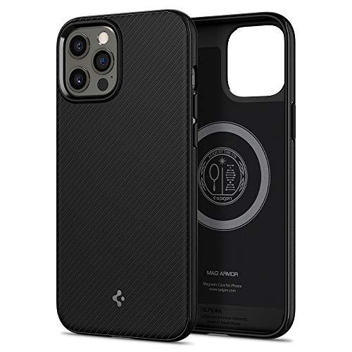 Spigen iPhone12Pro Max ケース 6.7インチ MagSafe 対応 ケース TPU マグセーフ ワイヤレス充電対応 米軍MIL規格取得 耐衝撃 すり傷防止 アイホン 12プロマックスケース カバー シュピゲン マッグ・アーマー (マット・ブラック)