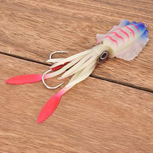 Jarchii 【2021 Neujahrsaktion】 3D Eyes Tintenfisch-Angelköder, 15,3 cm / 60 g Octopus-Angelköder, Octopus-Tintenfischköder, gefälschter Angelköder, Meer- / Süßwasser zum Angeln(4#)