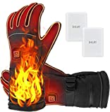 Heated Gloves,Electric Heated Gloves for Men&Women with Rechargeable Battery for Skiing,Climbing,Motorcycle,XL