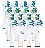 Yanaboo 16 cabezales de repuesto para cepillos de dientes eléctricos Braun Oral B, incluye...