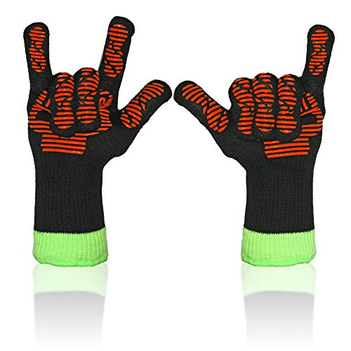 Save 50 ★ Insulated Barbecue Gloves ★ Heat Resistant Safe ★ Bamboo Viscose® Fiber Comfort ★ Best Accessories for BBQ Grilling Smoking Oven ★ Versatile Silicone Grips ★ Deodorize ★ Lifetime Guarantee