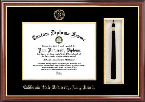 Campus Images Cal State Long Beach Dedication Box Diploma Frame and Tassel Award