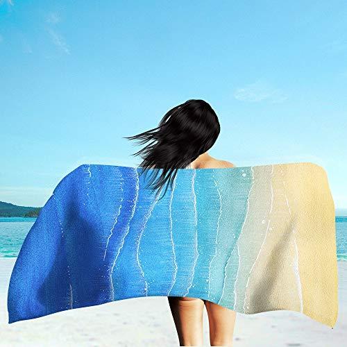 LIZHIOO Toalla De Playa Al Aire Libre, Verano Personalizada Personalizada Playa De Playa Portátil, Adecuada Para Al Aire Libre Surfing Camping Travel Yoga Mat Beach Toalla