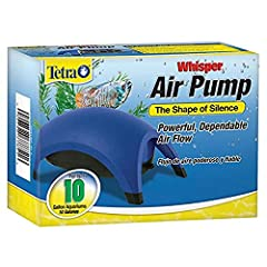 For use in 10-Gallon aquariums Whisper air pumps provide reliable service at an economical cost Efficient and easy to use