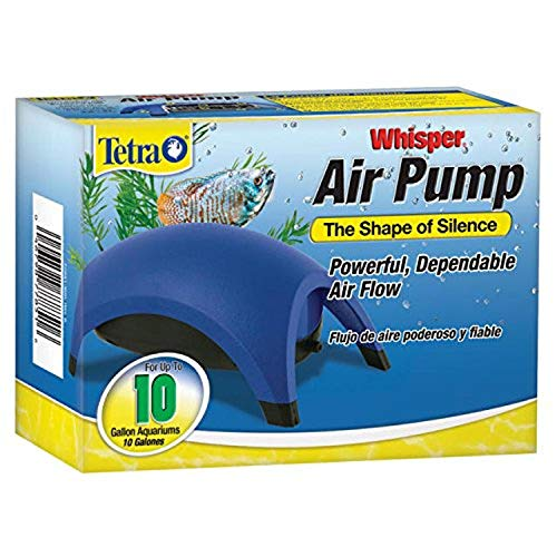Tetra Whisper Easy to Use Air Pump for Aquariums (Non-UL), Up to 10-Gallons