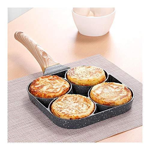 LQF-9.7 Deep Fried Omelette moule 4 trous non bâton Petit déjeuner pratique Burger Oeufs Ham restaurant Omelette Pan de cuisson facile Egg Artefact