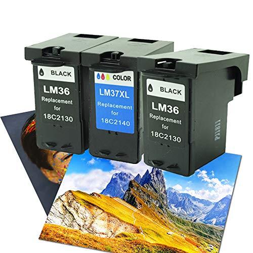 Caidi - Juego de 3 Cartuchos de Tinta para Impresora Lexmark X3650, X4650, X5650, X6650, X6650, X6675, Z2420