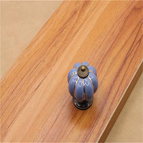 Keramische deurkruk Set/10 Stks 40 MM Keramische aardewerk knoppen, Kartoon pompoen vorm Vintage landelijke stijl chique kast kast dressoir kast keuken lade trekken handgrepen keramische kast lade knop deur Ha