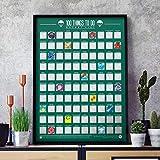 Gift Republic Gr630006 - Póster de rascar con lista de cubos (100 cosas que hacer, talla única)