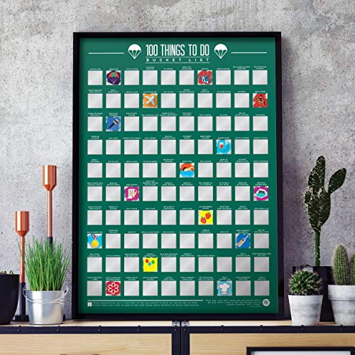 100 Things To Do – Bucket List Scratch Off Map