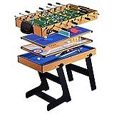 ZXQZ Mesa de Juego Plegable Combinada 5 En 1, Juguetes Interactivos para Padres E Hijos para Dos Personas, Fútbol, Tenis de Mesa, Juego de Tejo, Bolos, Billar Mini mesas de Billar (Color : Style2)
