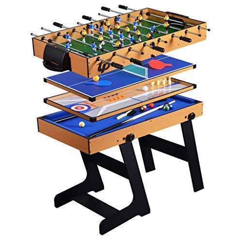 Tischbillard 5-in-1 Kombi-Klappspieltisch, Interaktives Eltern-Kind-Spielzeug für Zwei Personen, Fußball, Tischtennis, Shuffleboard, Bowling, Billard (Color : Style2)