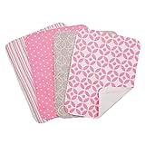 Lily 4 Pack Burp Cloth Set