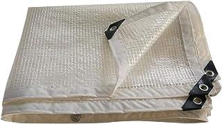 Tarpaulin Waterproof Heavy Duty Transparent Edge Thickening Balcony Rainproof Mesh Cloth Metal Buckle Polyethylene, 14 Siz...
